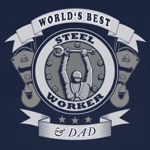 world's best steelworker - Baseballkappe