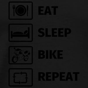 EAT SLEEP BIKE REPEAT Mugs & Drinkware - Men's Premium T-Shirt