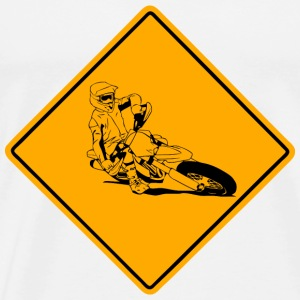 Supermoto Road Sign Vêtements de sport - T-shirt Premium Homme