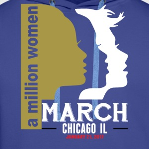 Women's March Chicago Il T-Shirts - Men's Premium Hoodie