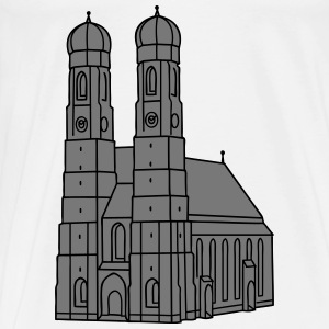 Munich Frauenkirche 2 Baby Bodysuits - Men's Premium T-Shirt