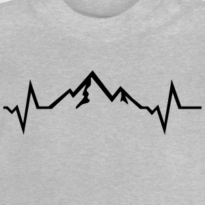 Mountains - Heartbeat Camisetas - Camiseta bebé