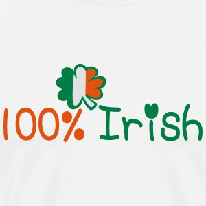 ♥ټ☘I'm 100% Irish-Irish Power Hoodie☘ټ♥ - Men's Premium T-Shirt