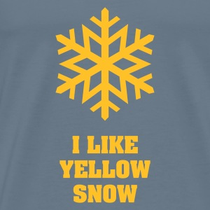 Rot Yellow Snow Flake No.2 Baby Body - Männer Premium T-Shirt