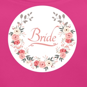 bride_rose_wreath T-shirts - Bio-slabbetje voor baby's