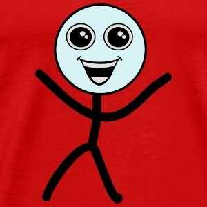 Happy smiley, stick figure Sportkleding - Mannen Premium T-shirt