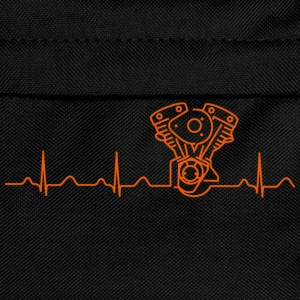 Late Shovel Heartbeat orange Hoodies & Sweatshirts - Kids' Backpack