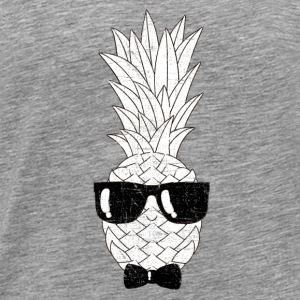 Pineapple With Sunglasses & Bow Tie Illustration Sports wear - Men's Premium T-Shirt