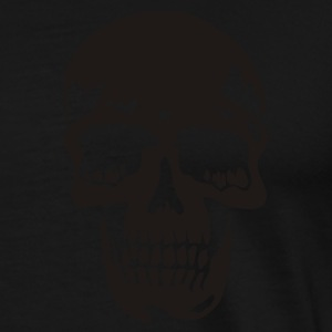 Sort skull pirate death heavy metal Jakker - Herre premium T-shirt