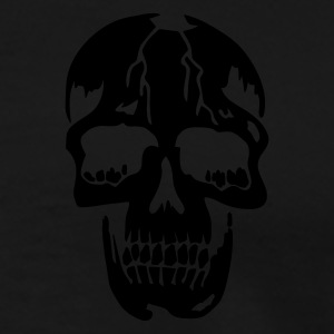 Svart original death skull pirate Jackor - Premium-T-shirt herr