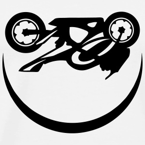 Motorcycle speed race smiley smile Sports wear - Men's Premium T-Shirt