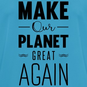make our planet great again Sportkleding - mannen T-shirt ademend