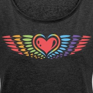 suchbegriff 39 herz mit fl geln 39 t shirts online bestellen spreadshirt. Black Bedroom Furniture Sets. Home Design Ideas