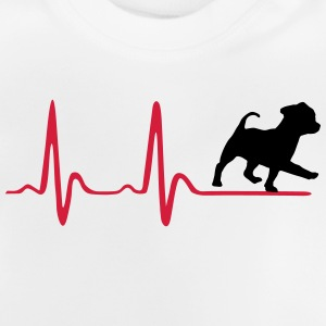 Heartbeat & cute dog Camisetas - Camiseta bebé