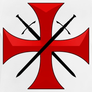 Templar cross and swords Tee shirts - T-shirt Bébé