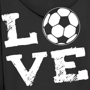 LOVE - football T-Shirts - Men's Premium Hooded Jacket