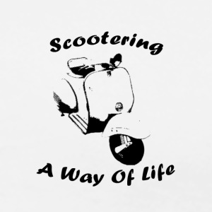 White/black scootering a way of life Long sleeve shirts - Men's Premium T-Shirt
