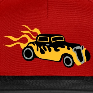 Chocolate/sun Retro hotrod Hottie  by patjila Men's T-Shirts - Snapback Cap