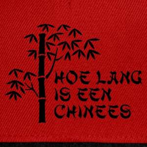 Rood Hoe lang is een chinees Kinder shirts - Snapback cap