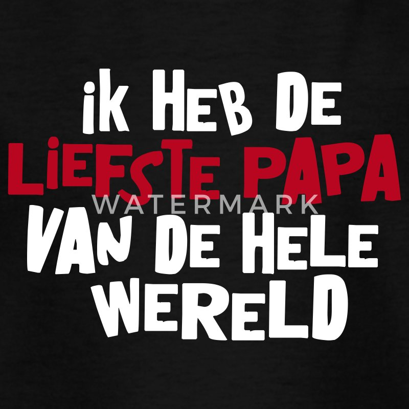 Zwart liefste_papa Kinder shirts - Teenager T-shirt