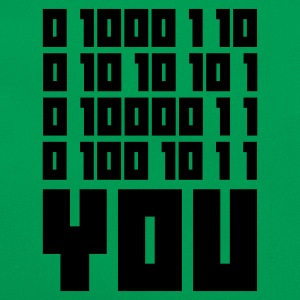 Mossgrön FUCK YOU - Binary code T-shirts - Retroväska