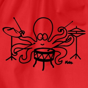 Rood Octopus  T-shirts - Gymtas