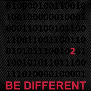 Be Different - Ser diferentes - Binario - Digital Camisetas - Mochila infantil