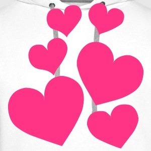 Heart Love T-Shirts - Men's Premium Hoodie