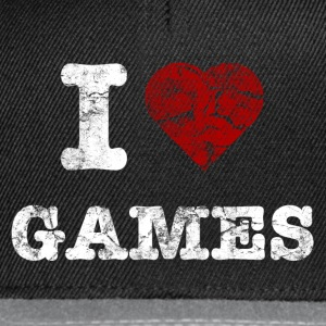 i love games vintage light Camisetas - Gorra Snapback
