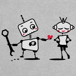 The robot gives away his heart Accessories - Baby T-Shirt