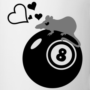 råtta Henry  / rat loves eight ball (3c) T-shirts - Mugg