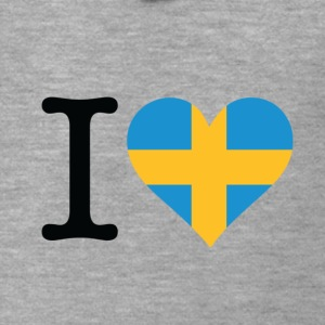 I Love Sweden (dd) Hoodies & Sweatshirts - Men's Premium Hooded Jacket