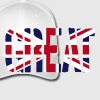 Great Britain flag, bandiera inglese, Union Jack, bandiera Regno Unito - Cappello con visiera Flexfit