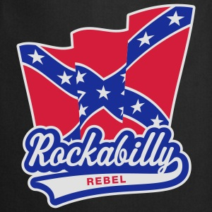 Rockabilly Rebel Flag, T-Shirt - Tablier de cuisine