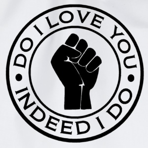 northern soul do i love you indeed i do button badge - Drawstring Bag
