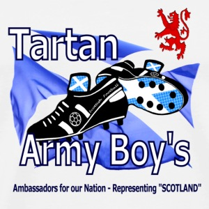 Tartan Army Boys Scotland supporters Mug - Men's Premium T-Shirt