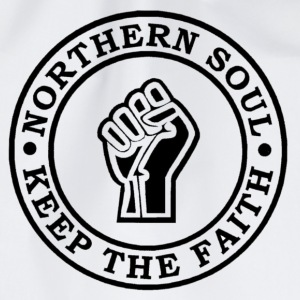 Northern Soul Keep the faith button badge - Drawstring Bag