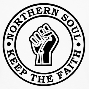 Northern Soul Keep the faith button badge - Men's Premium Longsleeve Shirt