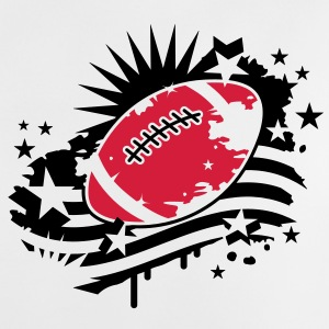 Football with an American flag, Stars and Stripes graffiti Accessories - Baby T-Shirt