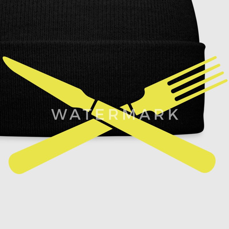 Messer und Gabel / knife and fork (crossed, 1c) Caps & Hats - Winter Hat