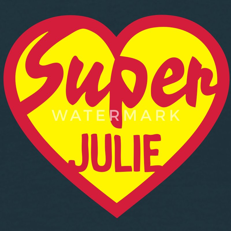 julie super coeur heart love logo1 Tee shirts - T-shirt Homme