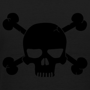 skull with bones / pirate Jackor & västar - Premium-T-shirt herr