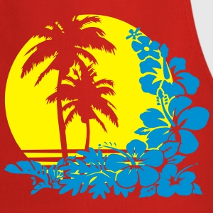 palm sunset T-Shirts - Tablier de cuisine