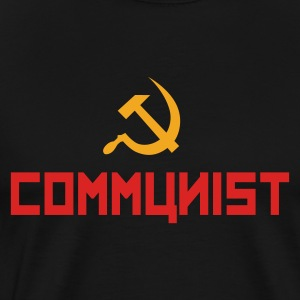 Communist with hammer and sickle Felpe - Maglietta Premium da uomo