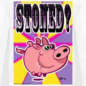 White Stoned Pig. Men's Tees (short-sleeved) - Men's Premium Longsleeve Shirt