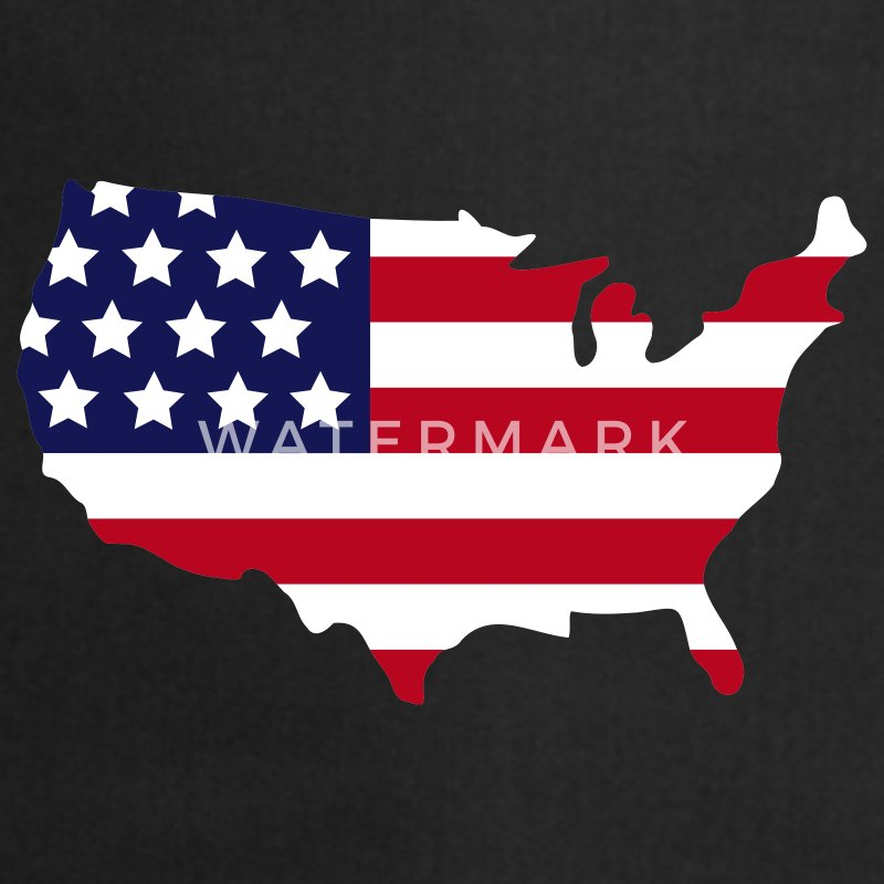 Zwart Stars and Stripes of USA, United States of America  Kookschorten - Keukenschort
