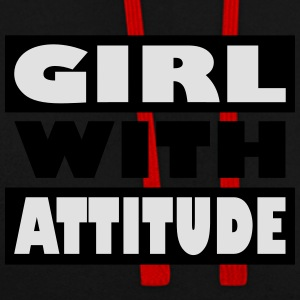 Girl with attitude - Contrast Colour Hoodie