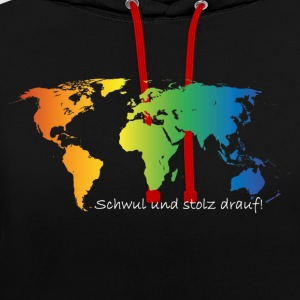 Gay and proud - Contrast Colour Hoodie