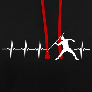 I love javelin (javelin heartbeat) - Contrast Colour Hoodie