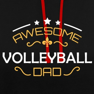 papa Volley-ball - Sweat-shirt contraste